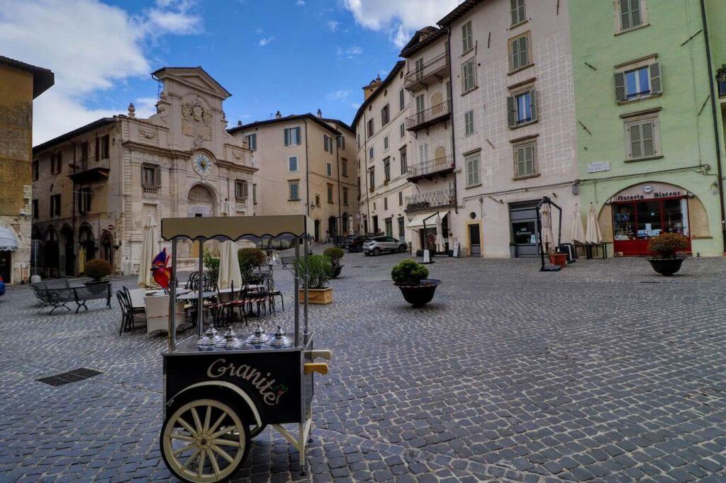 Piazza del Mercato di Spoleto.italy