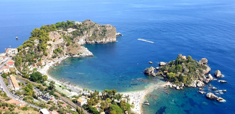 Taormina's coastline